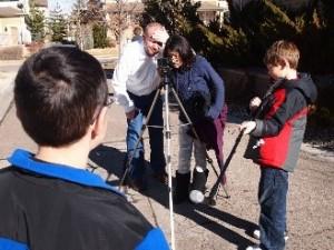 kids filming